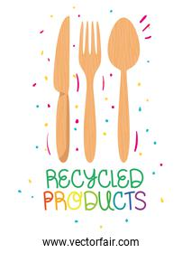 recycled products label