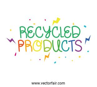 recycled products phrase
