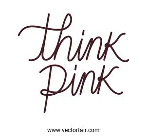 think pink lettering