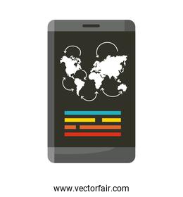 smartphone with traveling app