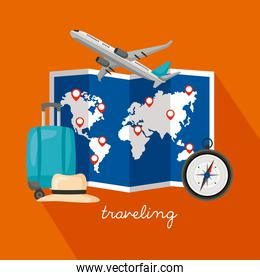 traveling vacations poster