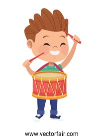 boy playing with drum