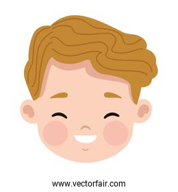young blond man head