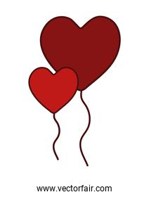 balloons with heart shape