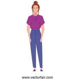 young woman character
