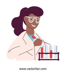 afro female scientist character