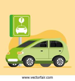 green electric vehicle