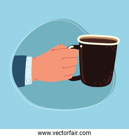 male hand with cup