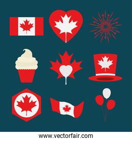 collection of canada day