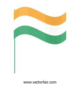 indian flag in pole