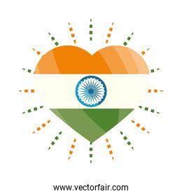heart with india flag