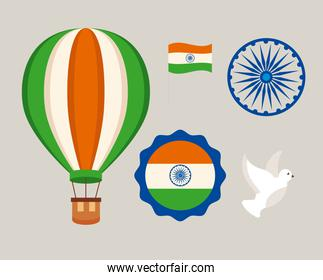 India independence day icon collection