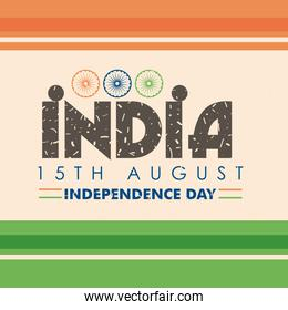 india 15th august independence day with ashoka chakras