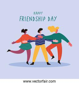 Happy friendship day blue poster