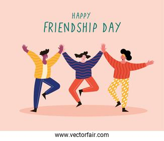 Happy friendship day pink card
