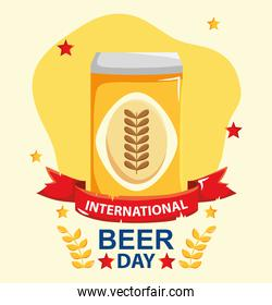 Beer can illustration