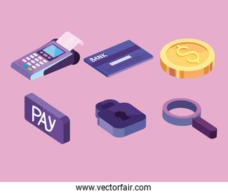 nfc technology payment icons