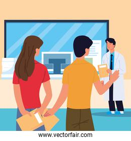 patients with a doctor