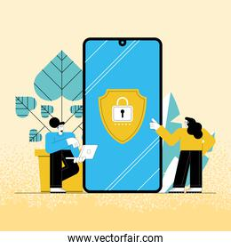 cybersecurity users in smartphone