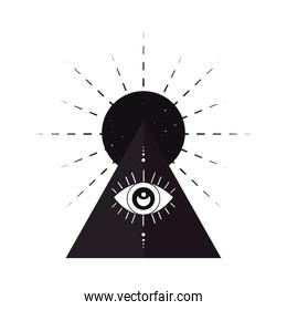 esoteric eye in hole