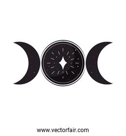 esoteric circle with moons