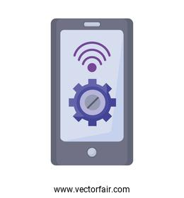 gear with wifi signal in smartphone