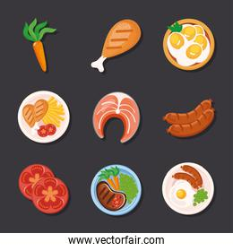 food icon collection