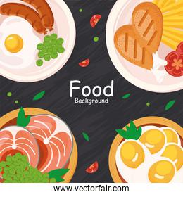 food plates icon group
