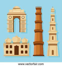 Indian landmarks collection