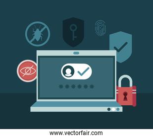 cyber security in laptop