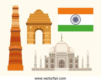 four independence india icons