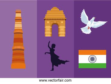 five independence india icons