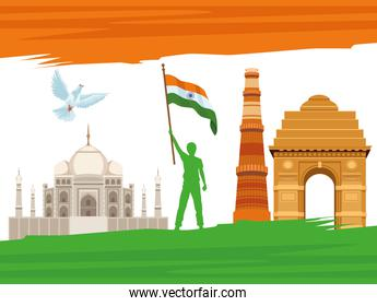 india independence poster