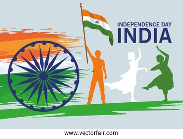 india independence lettering