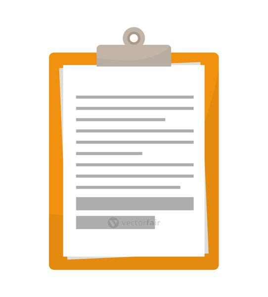 clipboard with files