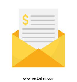 envelope with file
