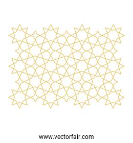 abstract star gold ornament