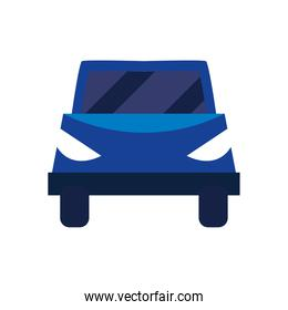 car blue isolated icon