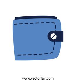 blue wallet isolated icon