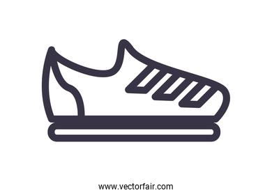 sporty sneaker isolated icon