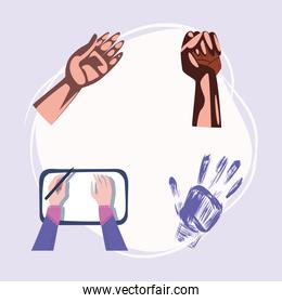 collection of left hands
