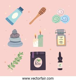 set of icons for skin care