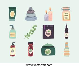 set of icons for spa