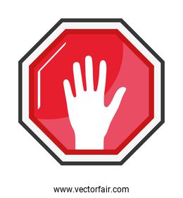 stop signal with hand