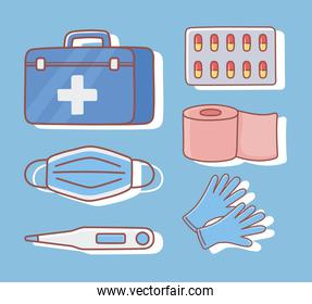 medicaments and first aid kit