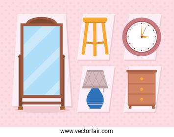 mirror and furniture