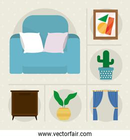 home furniture icon collection