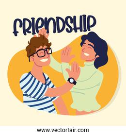 woman and man friendship