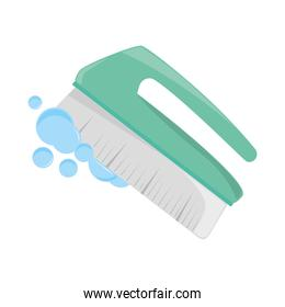 cleaning brush bubbles