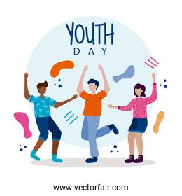 Happy youth day poster